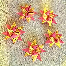 Dekorácie - Vianočné 3D hviezdy rôzne - 6355187_