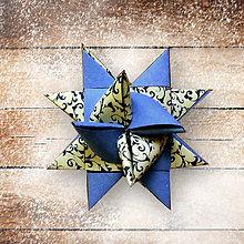 Papiernictvo - Vianočné 3D hviezdy z papiera - krajkové (1) - 6355386_
