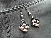 - Náušnice ROCK pyramid ANTRACIT mini - 6358911_