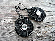 - Soutache náušnice Mini Black - 6360344_