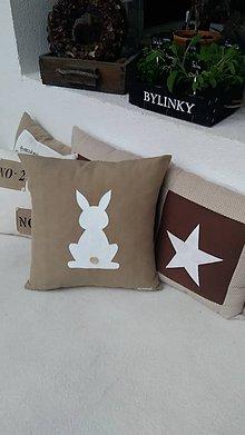 Úžitkový textil - Vankúšik so zajačikom / vankúšik + obliečka - 6356812_
