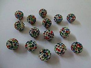 Korálky - Shamballa korálky 10 mm - multicolor II - 6359791_