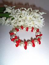Náramky - náramok z perál a koralu - 6360602_