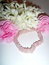 Náramky - náramček z ružového potôčika - 6360725_