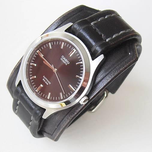 50a9ed498 Čierne kožené hodinky CASIO zafírové sklíčko / leon - SAShE.sk ...