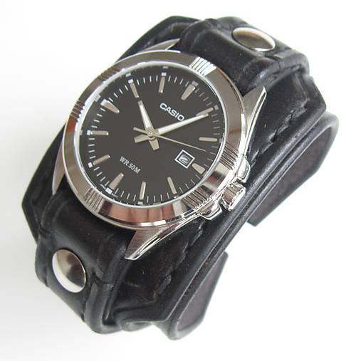 acc0bd954 Kožený remienok s hodinkami casio / leon - SAShE.sk - Handmade Náramky