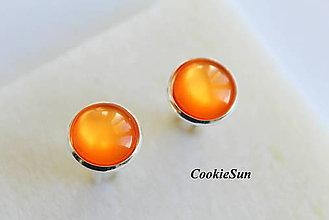 Náušnice - Glamour Orange (Manžetové gombíky 12mm) - 6359461_