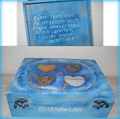 Krabica na Valentína so želanym textom :)
