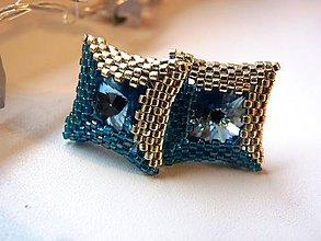 Šperky - Mr.Perfect Capri blue- manžetové gombíky - 6357692_