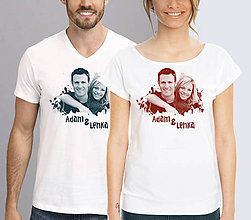 Tričká - Valentínka na tričku - 6358363_