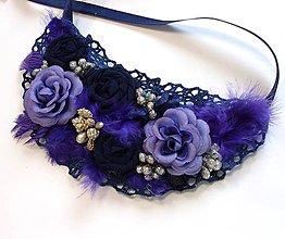 "Náhrdelníky - Náhrdelník "" V kráľovskej modrej "" - 6360295_"