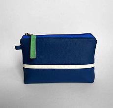 Taštičky - modrá s pruhom - 6359841_