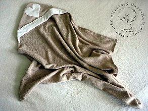 Textil - Bambusové Kapucíno – Detská osuška s kapucňou - 6360855_