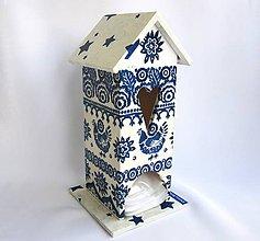 Pomôcky - Domček na čaj - modrotlač - 6363862_