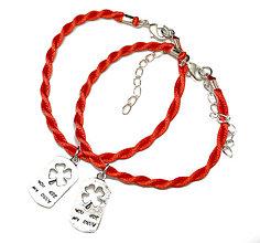 Náramky - kabbalah náramky pre pár Si moje jediné šťastie - 6361557_