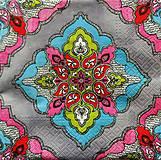 - S630 - Servítky - kaleidoskop, kvety - 6363321_