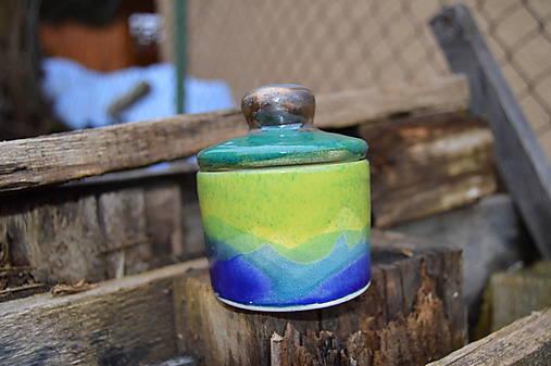 Dóza modro - zelená