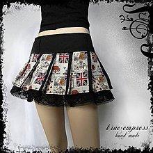 Sukne - Mini sukňa s vlajkami - 6361261_