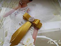 Pierka - svadobné pierko v zlatom - 6361687_