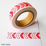 Papier - červené šípky - 6364011_