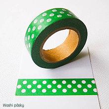 Papier - zelené bodky - 6364129_