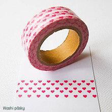 Papier - ružové srdiečka - 6364193_