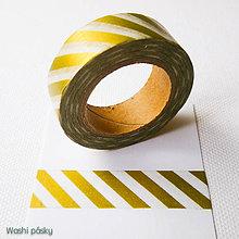 Papier - zlaté midi pásiky - 6364195_