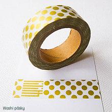 Papier - zlaté midi bodky - 6364204_