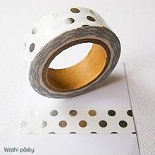 Papier - strieborné bodky - 6364214_