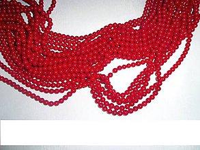 Minerály - koral červený leštený 6mm - 6362942_