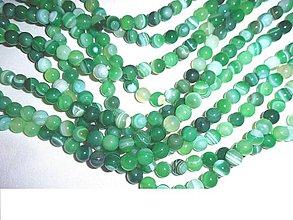 Minerály - achát zelený korálky - 6362964_