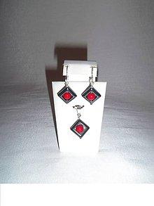 Sady šperkov - súprava z hematitu a koralu - 6363759_