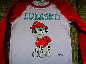 Detské oblečenie - maľované tričko Marshall - 6361775_