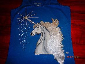 Tričká - maľované tričko koník - 6364112_