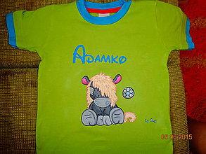 Detské oblečenie - maľované tričko somárik - 6364319_