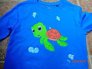 Detské oblečenie - maľované tričko korytnačka - 6364348_
