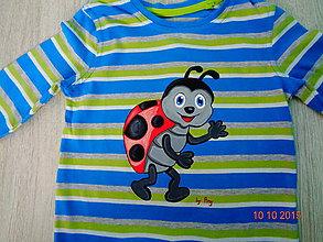 Detské oblečenie - maľované tričko lienka - 6364354_