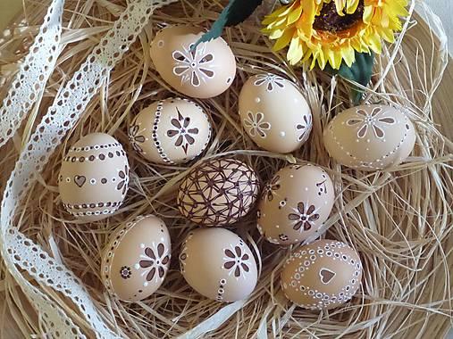Dekorácie - Kraslice madeira hnedé  - 6364375_