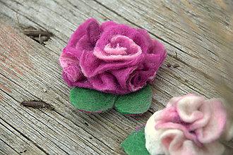 Kurzy - Kurz Plstený kvet - mokrá technika - 6363166_