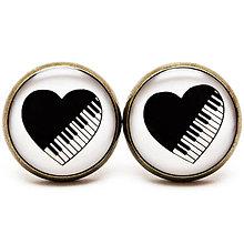 Náušnice - Piano Love - 6362812_