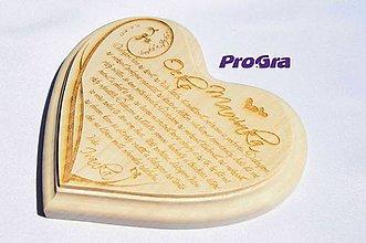 Darčeky pre svadobčanov - Poďakovanie rodičom - Fresh - lipové 20x18 cm - 6365318_