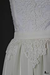 Šaty - Svadobné šaty z krajky podšité elastickým úpletom - 6362194_