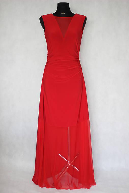 Elastické spoločenské šaty s tylovou sieťkou rôzne farby   Dyona ... bf6e4b59a9b