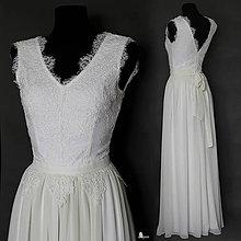 Šaty - Svadobné šaty z krajky podšité elastickým úpletom - 6362195_