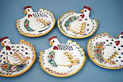 Dekorácie - Slepička na zeď či stůl 15 barevně malovaná - 6364239_