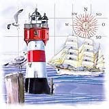 "Papier - Servítka ""Lighthouse & Compass"" - 6362774_"