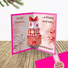 Papiernictvo - 3D vianočná pohľadnica - vianočné darčeky (4) - 6364582_