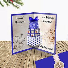 Papiernictvo - 3D vianočná pohľadnica - vianočné darčeky (6) - 6364585_