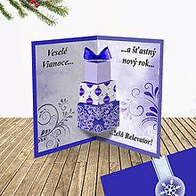 Papiernictvo - 3D vianočná pohľadnica - vianočné darčeky (7) - 6364588_