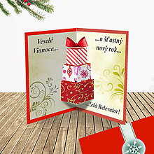 Papiernictvo - 3D vianočná pohľadnica - vianočné darčeky (8) - 6364590_
